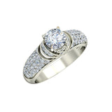 1.36ct Round Diamond Gold Engagement Ring - 27GG13
