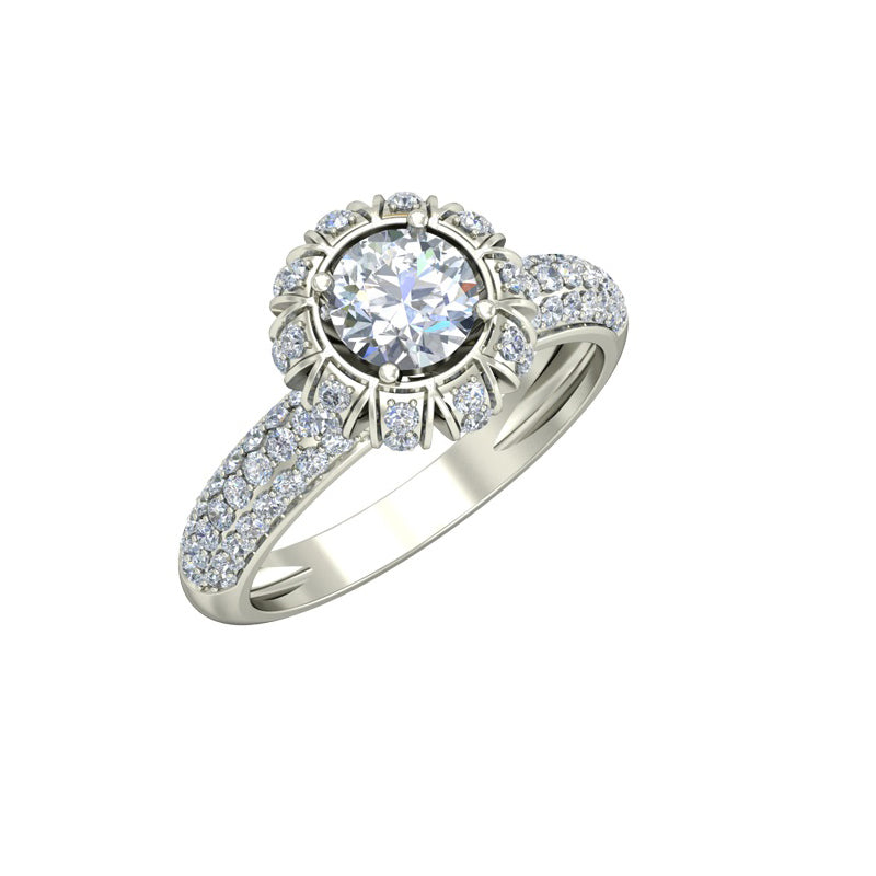 1.63ct Brilliant Cut Gold Engagement Ring - 27GG46