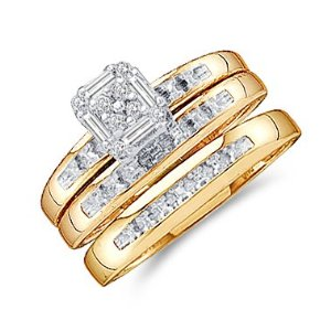 GOLD/DIAMOND WEDDING SET
