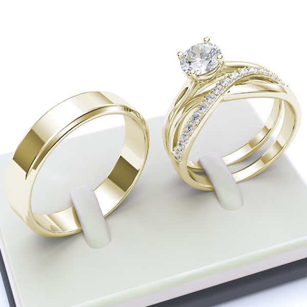 Gold Complete Wedding Set - 40GG41