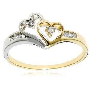 GOLD/DIAMOND ENGAGEMENT RING