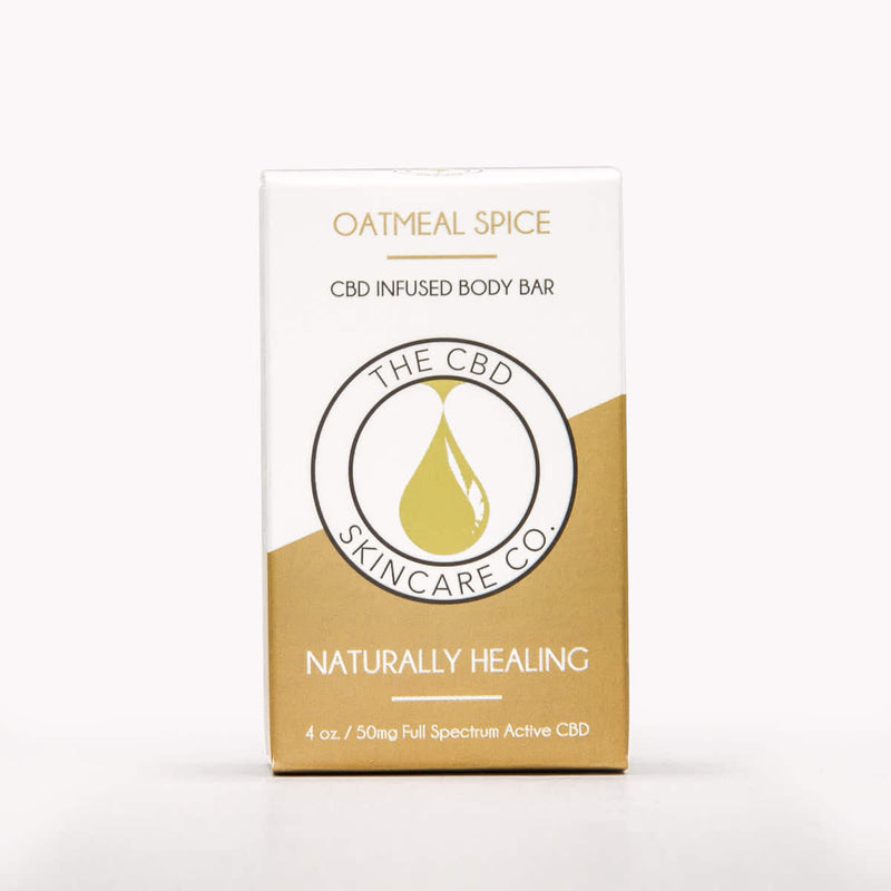 Oatmeal Spice CBD Body Bar - Crop Beauty
