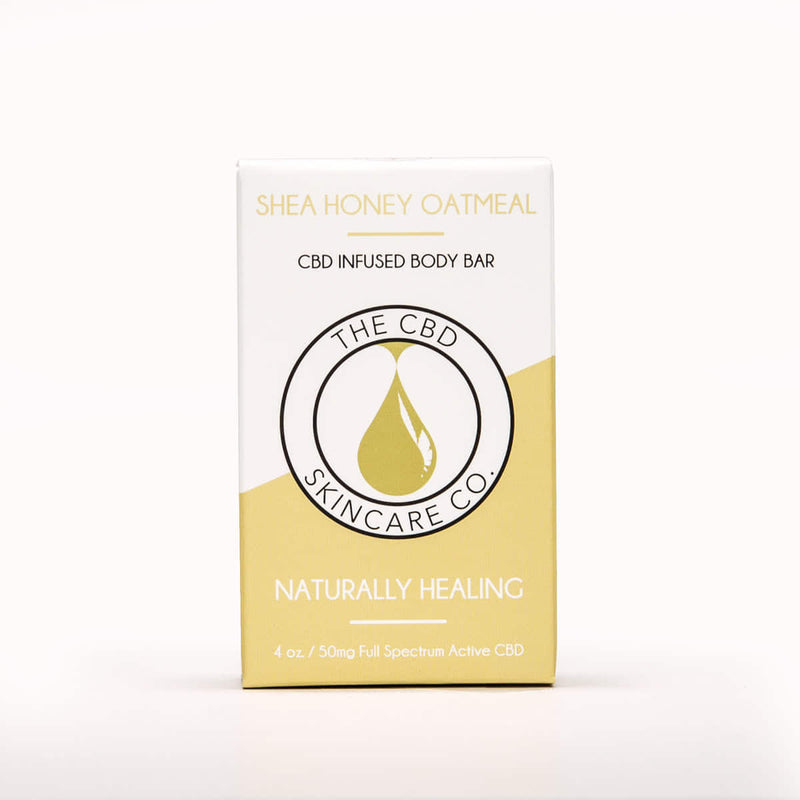 Shea Honey Oatmeal CBD Body Bar - Crop Beauty