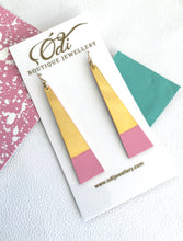 Tower Earrings -Blank Bubblegum Pink