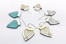 Art Deco Style, Vintage inspired design, Multi colour option, NZ, Hand Made, Small earrings.