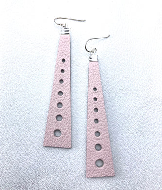 Leather cut out design, nz made earrings.