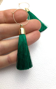 Tassel Hoops -in your choice of colour