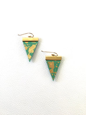Flecked Triangle Earrings - Your choice of colour