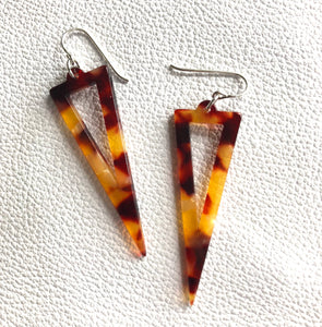Amber Tortoiseshell Triangle Spears