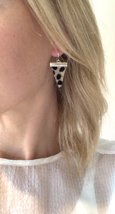 Cheetah Triangle Earrings- Gold or Silver options