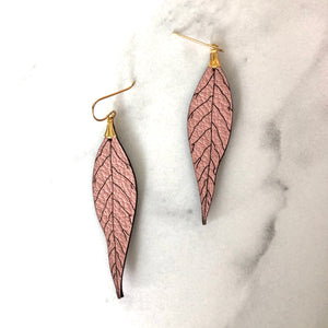 NEW Version Wild Leaf Earrings- Your choice of colour