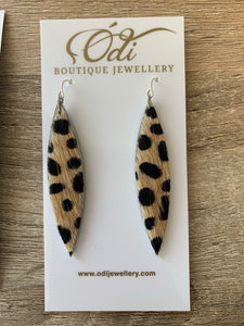 Wild Cat Marquise Earrings