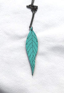 Leaf Necklace- 9 colours to choose from