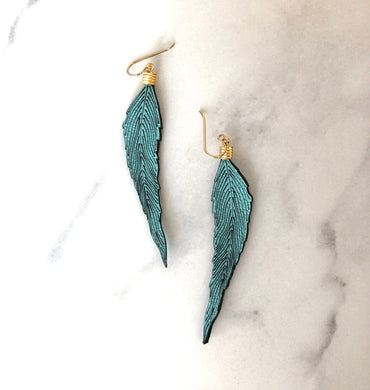 Feather Earrings- Your choice of colour