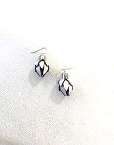 Wild Flower Bud Earrings -White in your choice of style