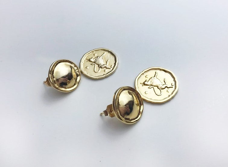 Zodiac Coin Earrings