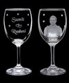 Wine Glass with full wrap Engraving