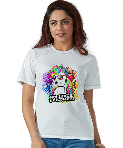 Holister Unicorn-Printed Half Sleeve Holi T-shirts.