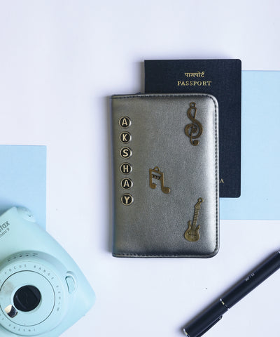 Metallic Grey Passport Cover