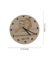 Round engraved wall clock