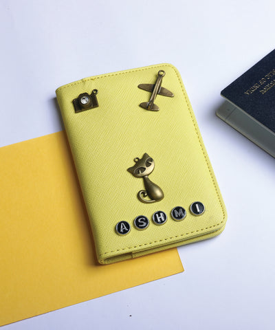 Lemon Yellow Passport Cover
