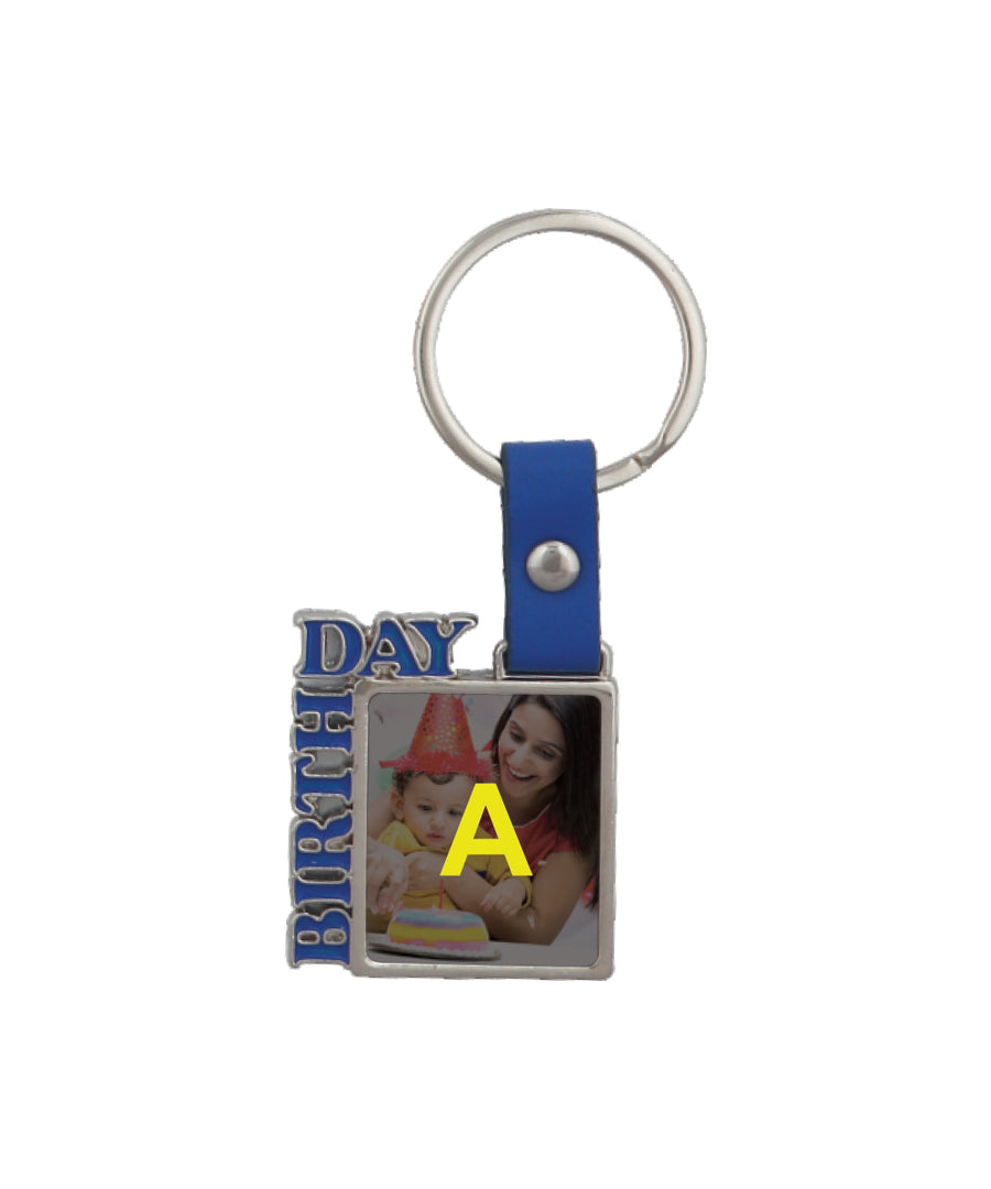 2-Side Foto Metal Keychain