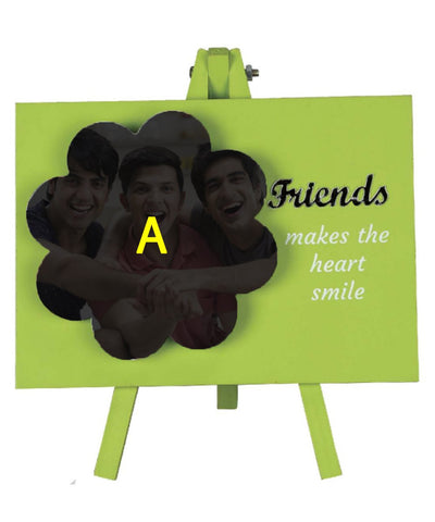 Easel shape frame with your best friendship photo printed on ceramic tile.
