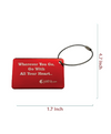Engraved Red Metal Bag Tag
