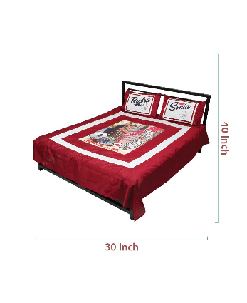Personalized bed sheet with pillow cover