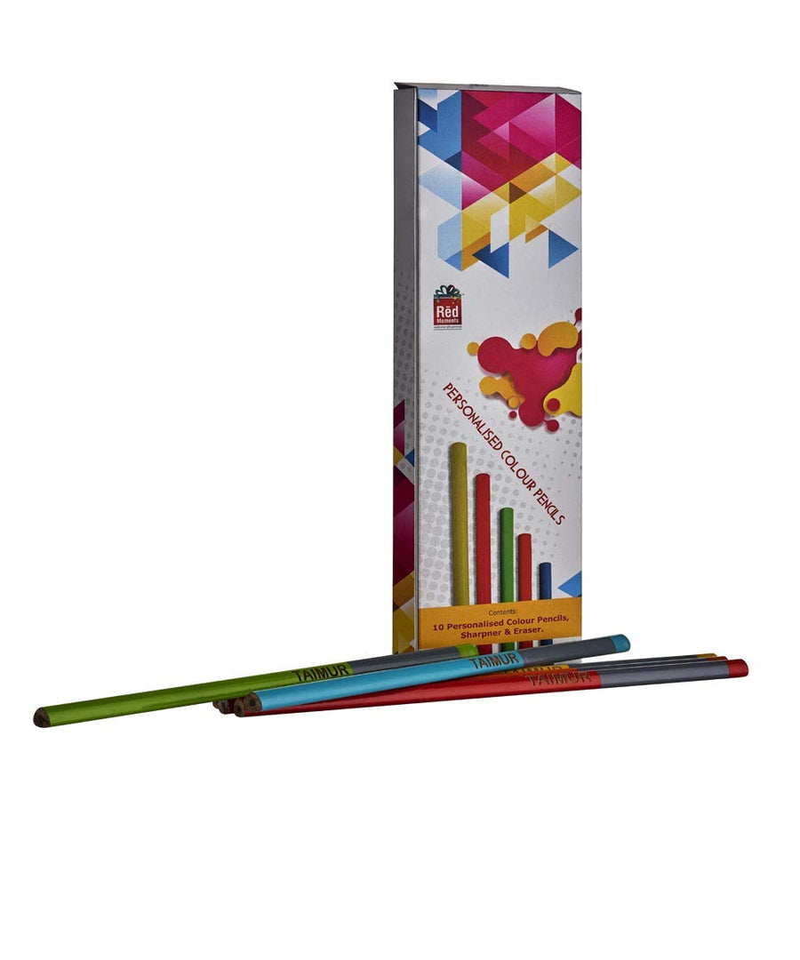 Customized Name Triangle Pencil Set