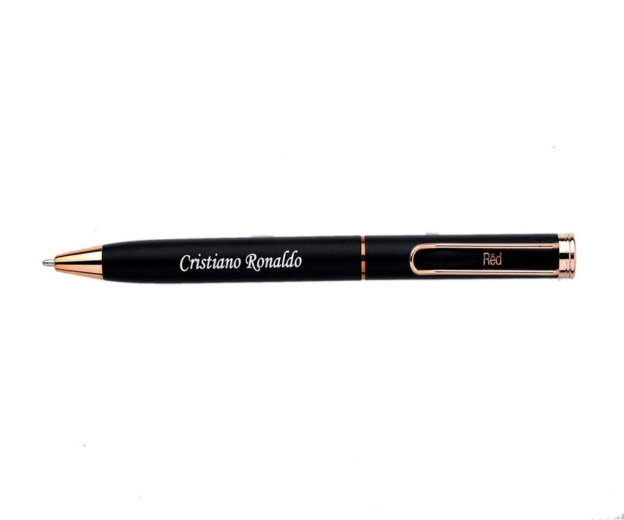 Personalized Gift Black Rose Pen