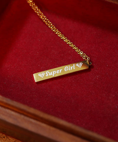 Super Girl Rectangular Pendant