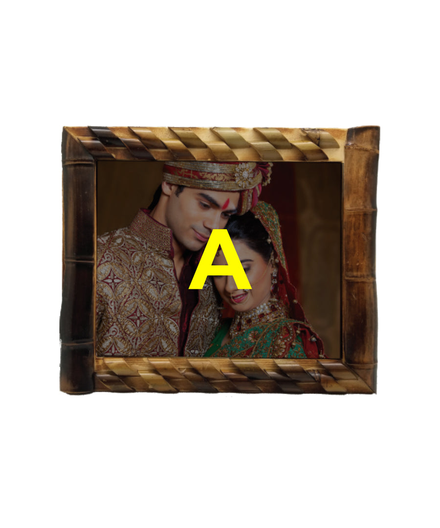 Bamboo Frame With 8X10 Tile