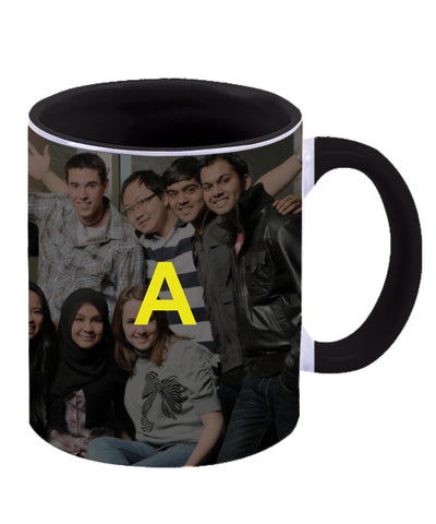 Black Two Tone Ceramic Personalised Mug
