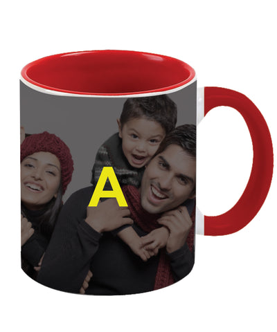 Red Two Tone Personalised Ceramic Mug