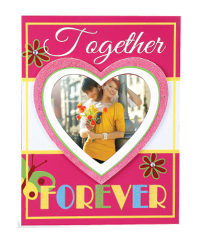 Heart Shape Together Forever Photo Frame