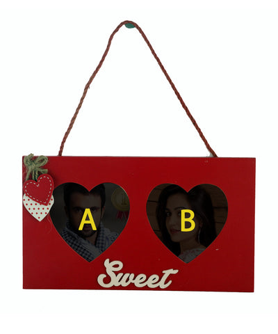 Hanging Double Heart Photo Frame