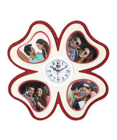Personalised 4 Photo Magnetic Wall Clock