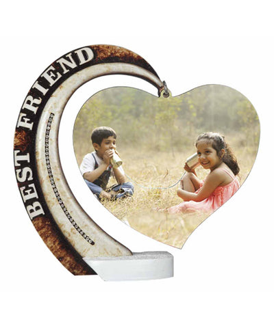 Hand Decorated Best Friend Hanging Heart Plaques With Tile