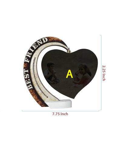 Best Friend Hanging Heart Plaque
