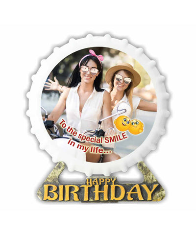 Hand Decorated Happy Birthday Plaques With Personalized Photo & Sweet Message