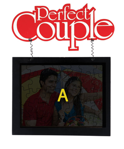 Perfect Couple Hanging Jigsaw Frame