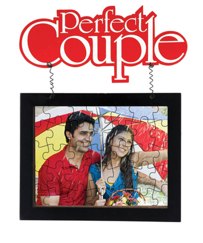 Hanging Jigshaw Puzzle Couple Photo Frame