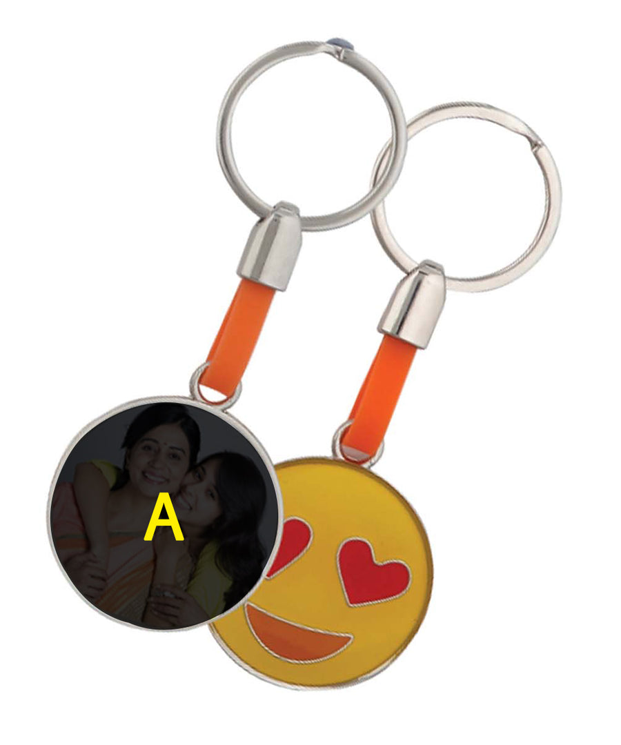 Smily Keychain Personalized With Your Photo