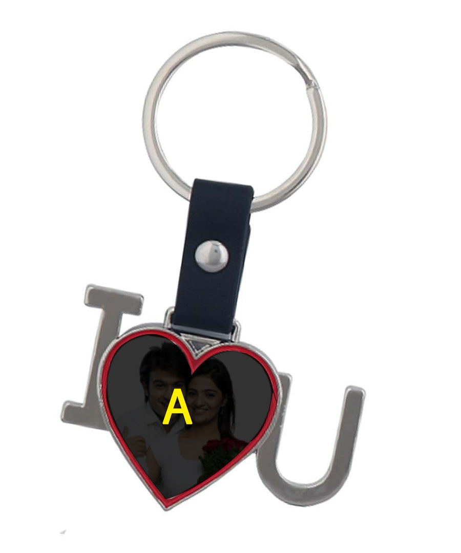 Personalized Heart Shape I Louve U Keychain