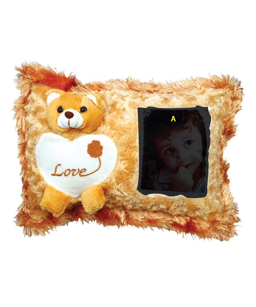 Personalized Rectangular Shape Yellow Teddy Pillow Cases
