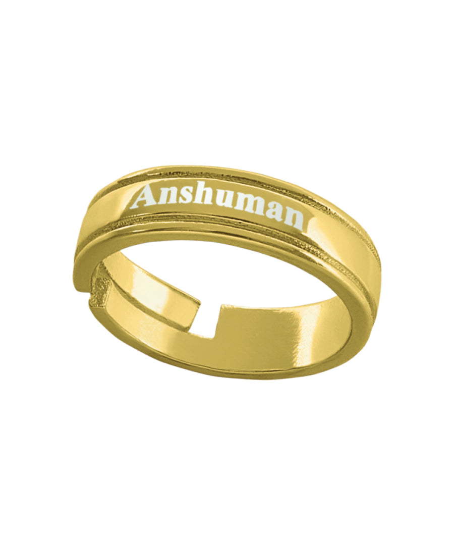Name Engraved Gents Finger Ring