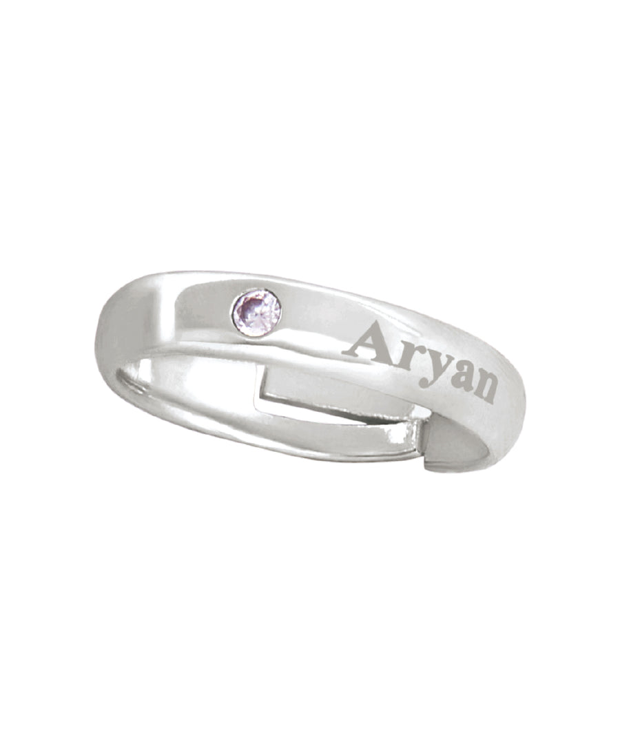 Name Engraved Unisex Finger Ring