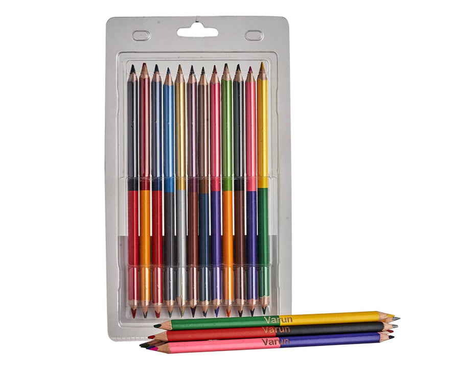 Customized Dual Side Color Pencil Set (Pack of 12)