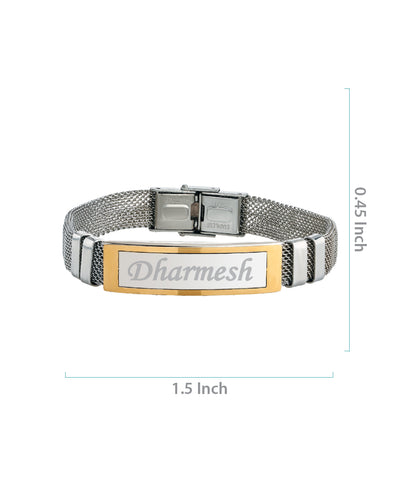 Name Engraved Men's Bracelet